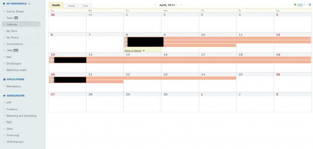 BITRIX24 kalendarz